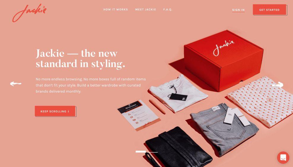 Jackie Homepage Website Design