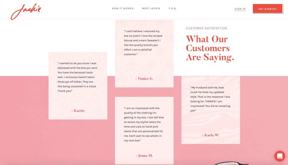 Jackie Reviews Website Design