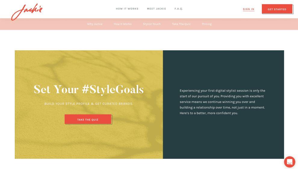 Jackie Quiz Website Design