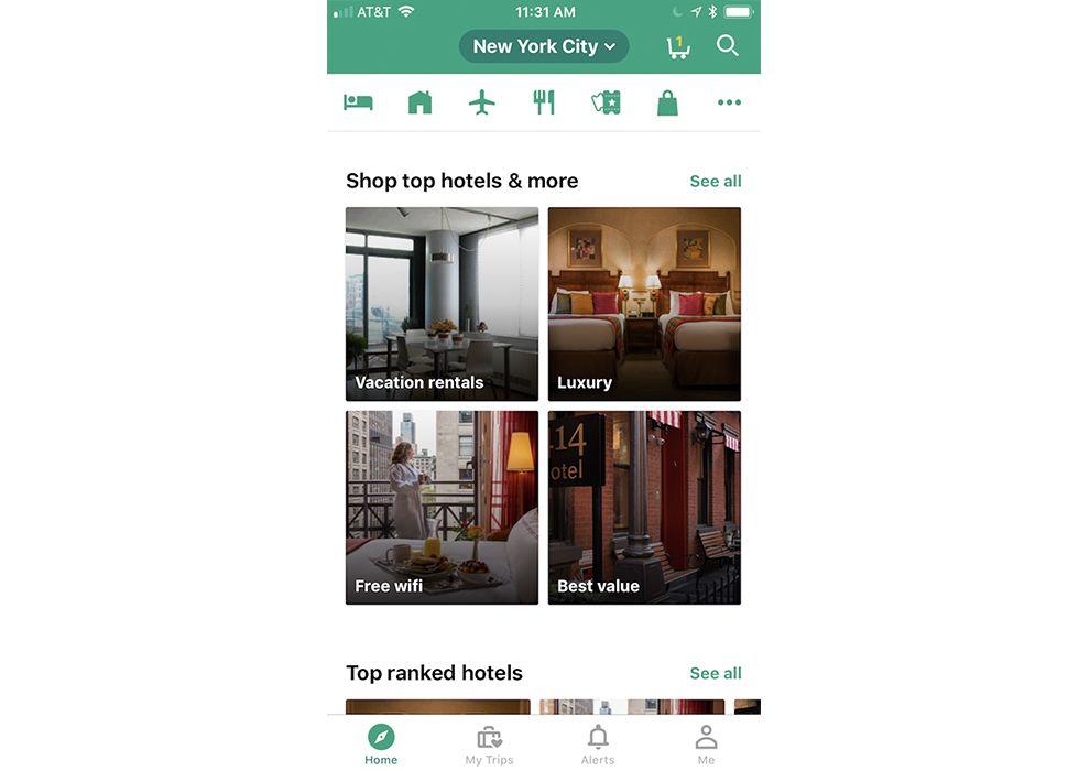 TripAdvisor Search App Design