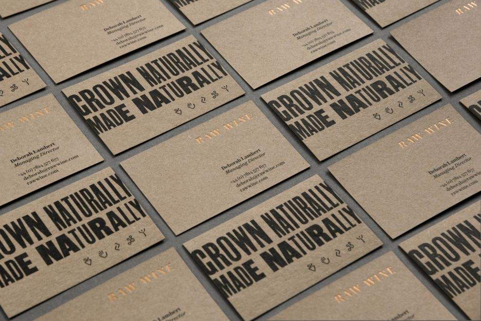 Raw Wine Business Cards Print Designs