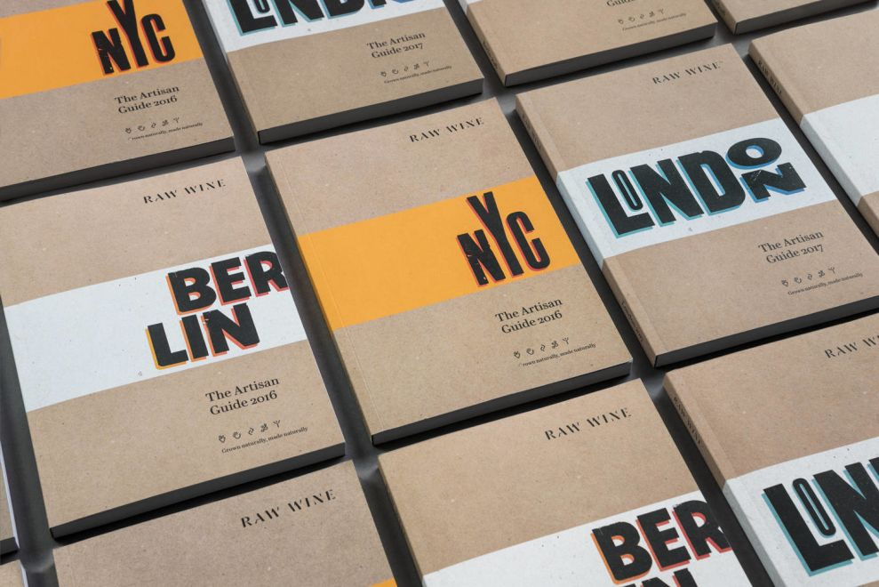 Raw Wine Pamphlets Print Designs