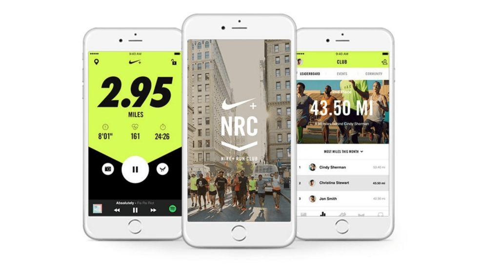 Nike+ Run Club Screenshots App Design
