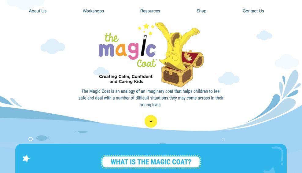 The Magic Coat Homepage Website Design