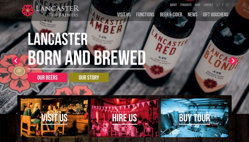 Lancaster Brewery Homepage Website Design