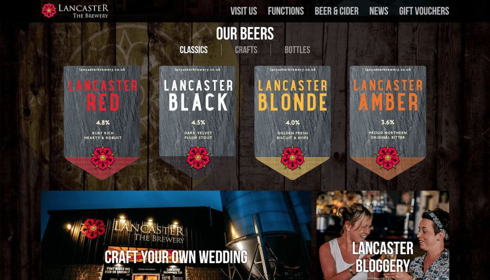 Lancaster Brewery Product Gallery Website Design