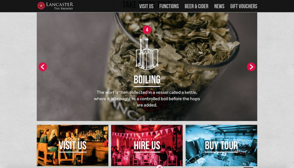 Lancaster Brewery About Website Design