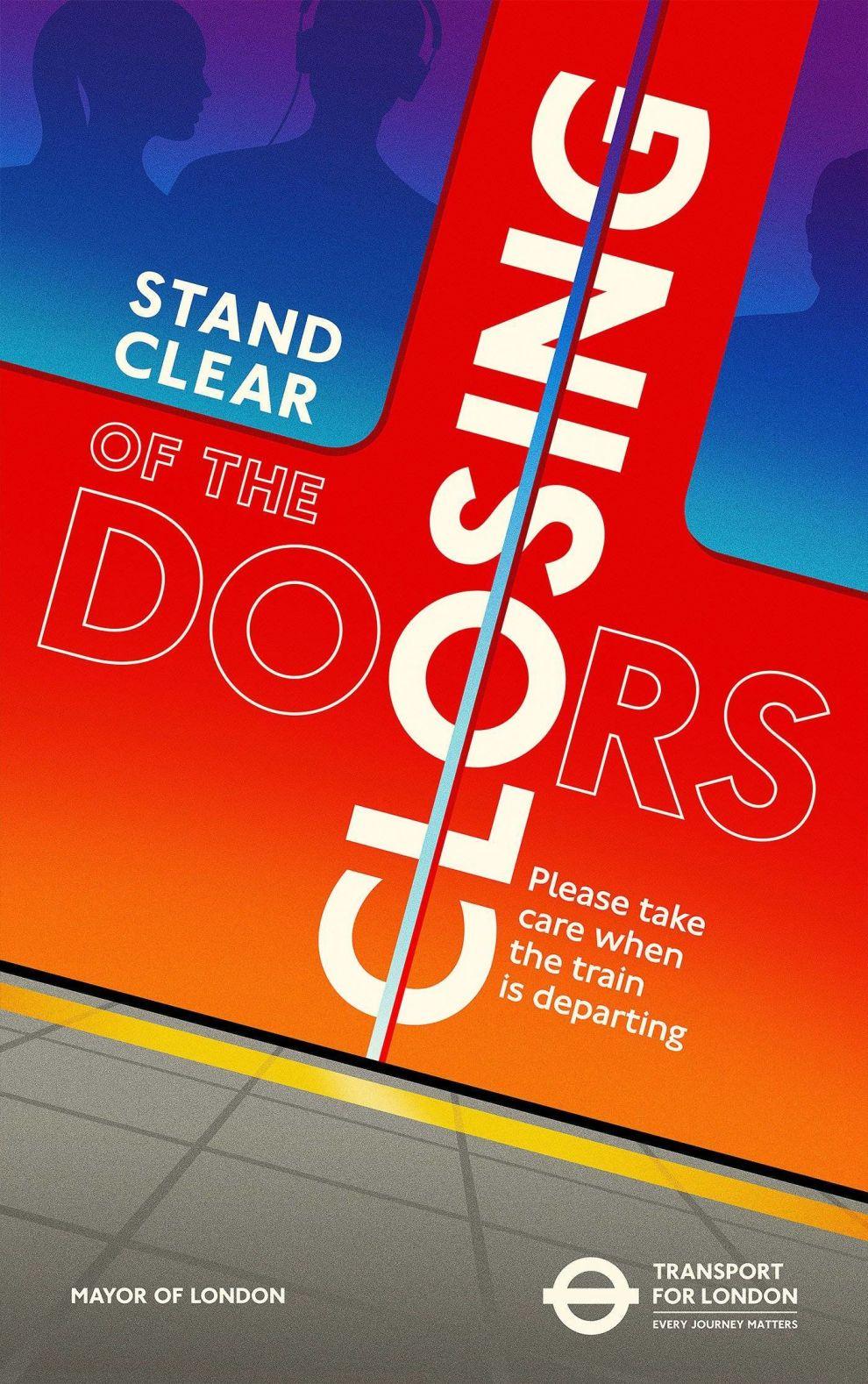 Transport For London Closing Doors Poster Print Design