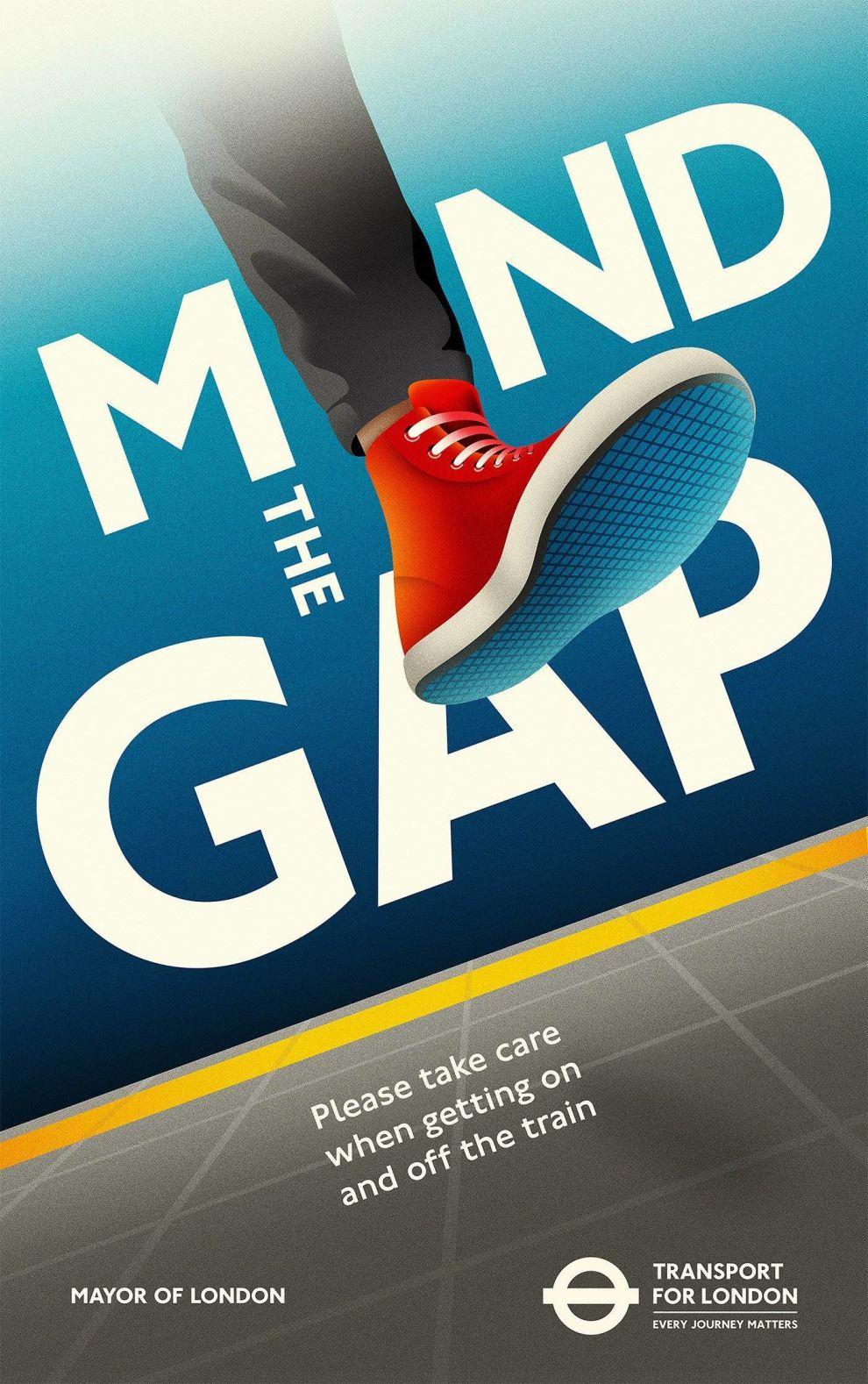 Transport For London Gap Poster Print Design