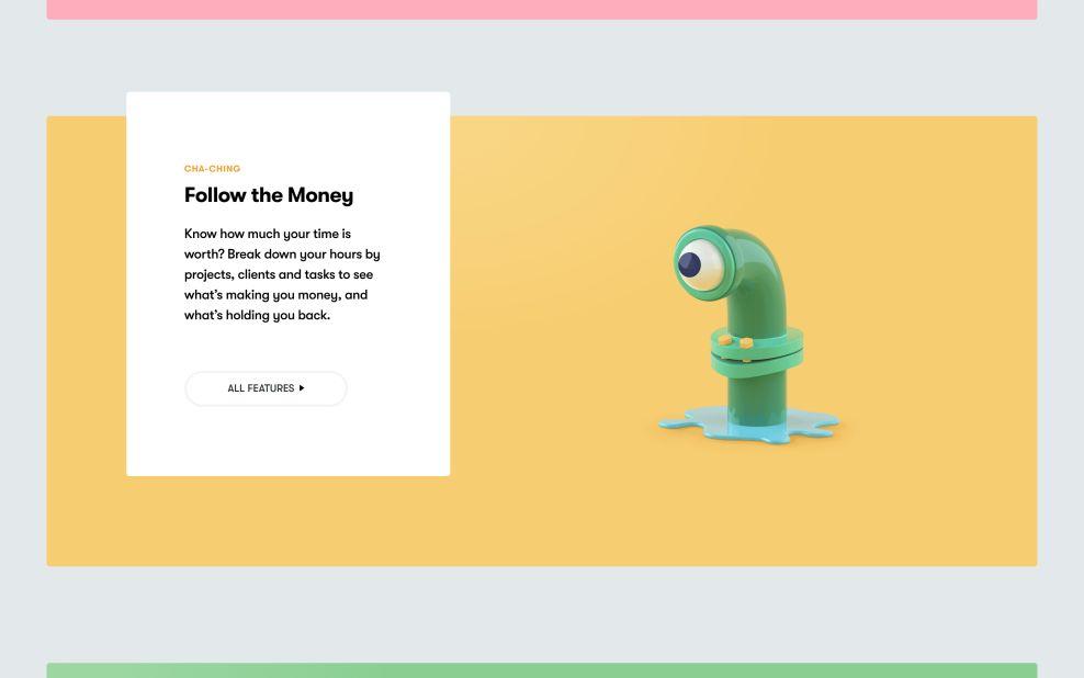 Toggl Cost Website Design
