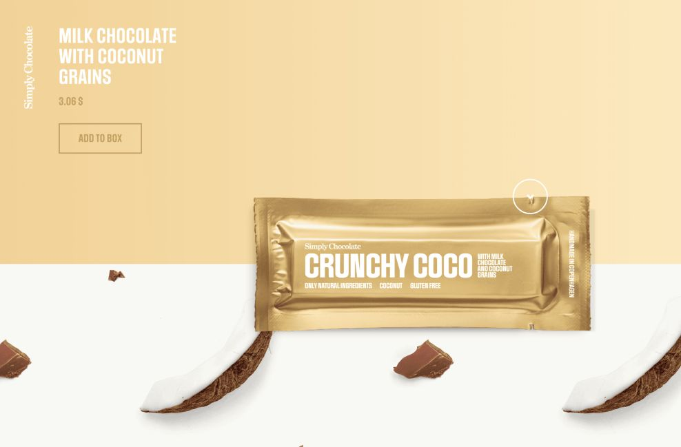 Simply Chocolate Product Page Crunchy Coco Website Design