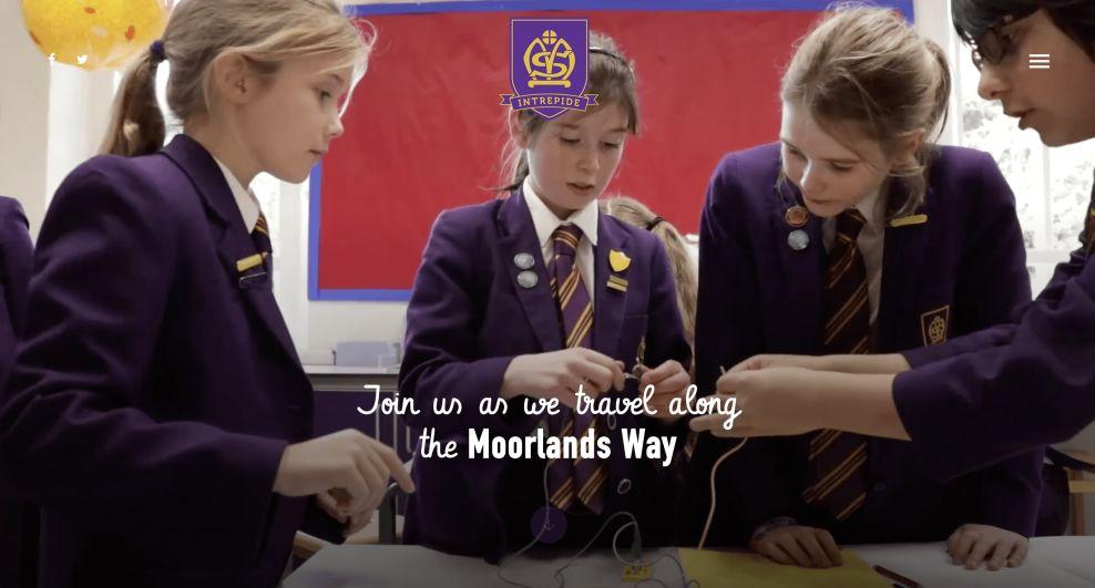Moorlands Home Page Website Design