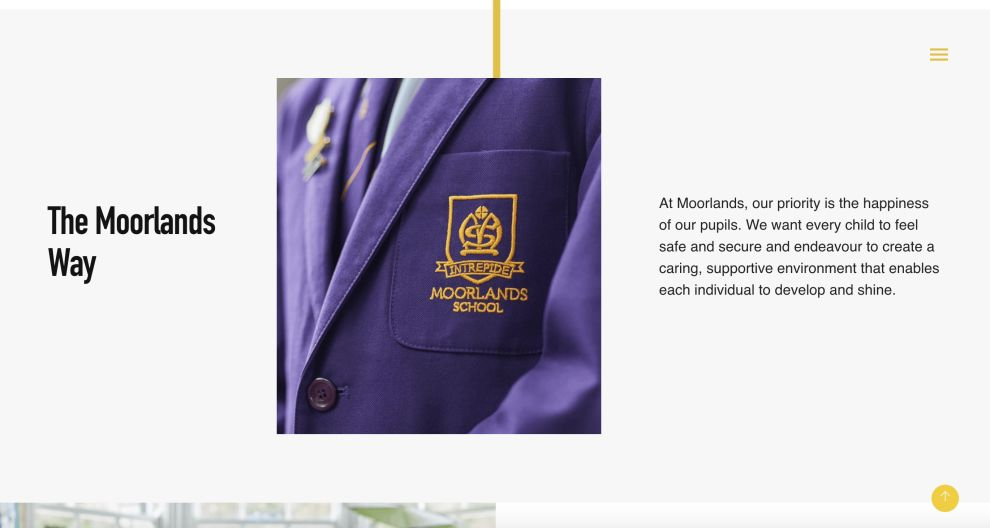 Moorlands About Page Website Design