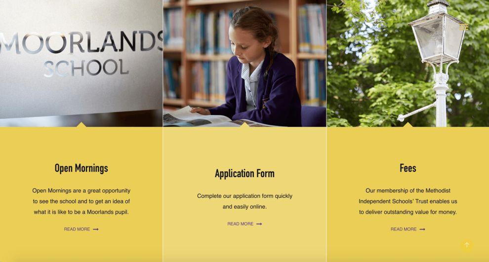 Moorlands CTAs Website Design