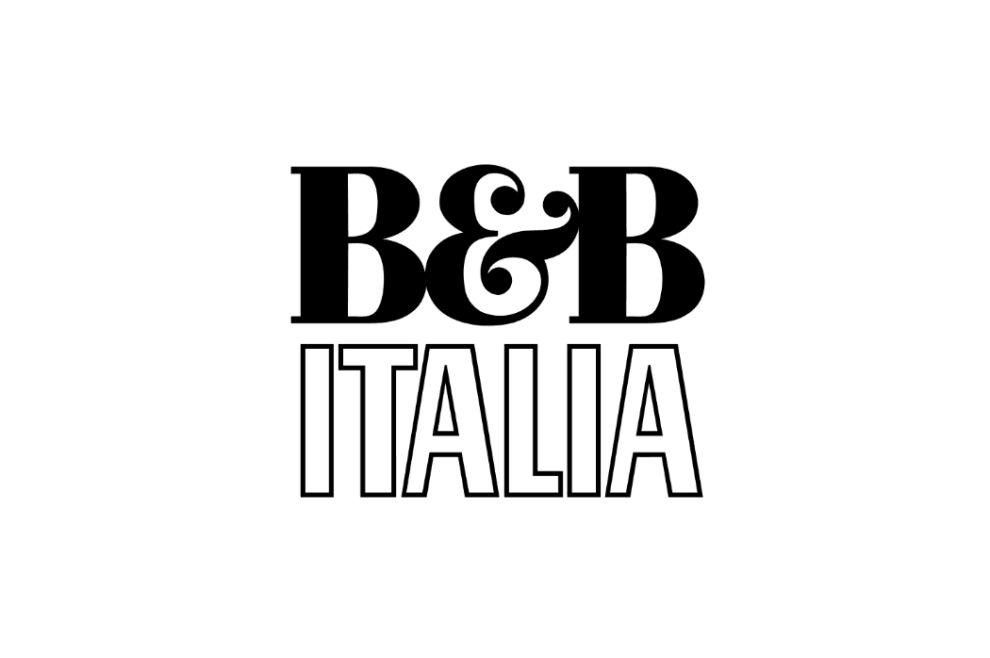 B&B Italia Modern Logo DesignB&B Italia Website Banner Logo Design