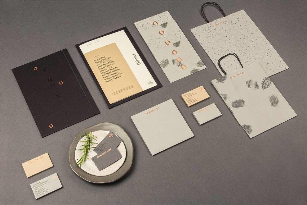 Common Lot Branding Materials Print Design