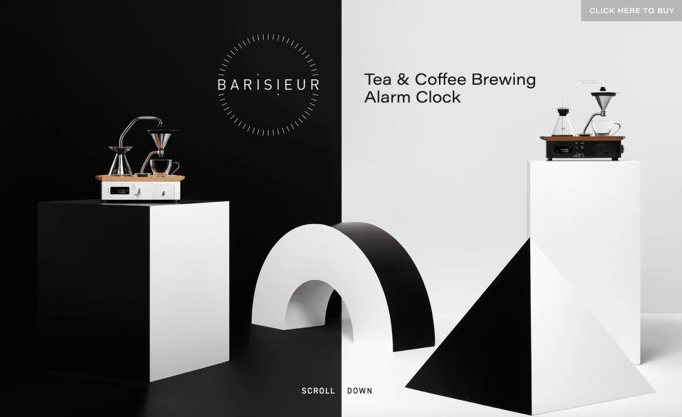Barisieur Home Page Website Design