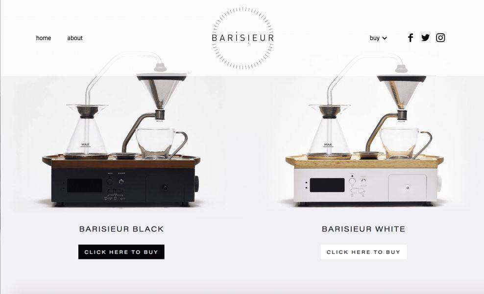 Barisieur Product Page Website Design