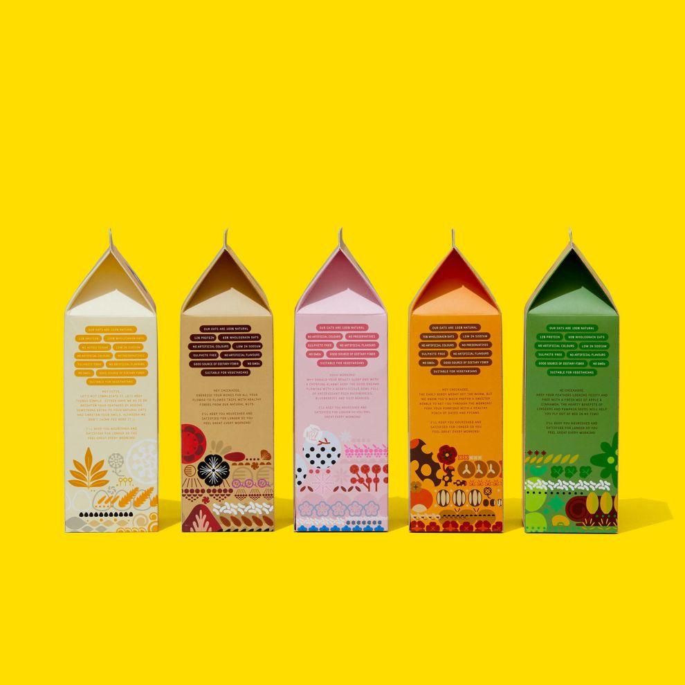 Hummingbird Oatmeal Package Design