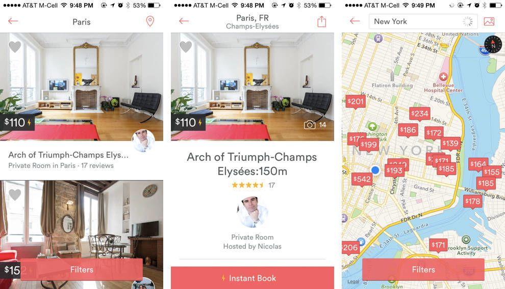 Airbnb Map App Design
