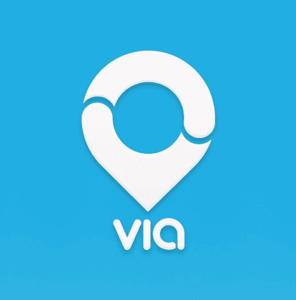 Via Symbol Logo Design