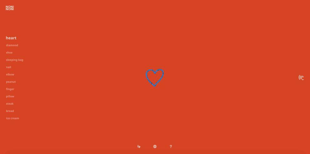 Noni Noni Heart Drawing Website Design