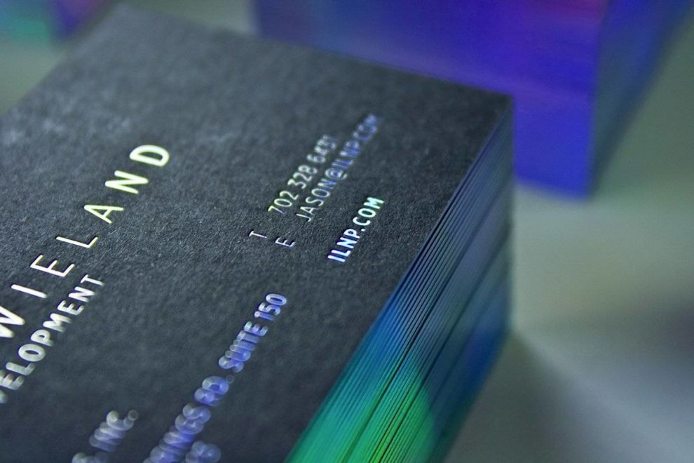 ILNP Business Cards Closeup Print Design