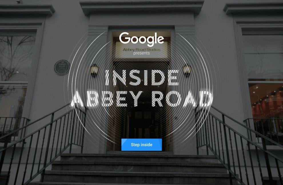Inside Abbey Road Main Page Website Design