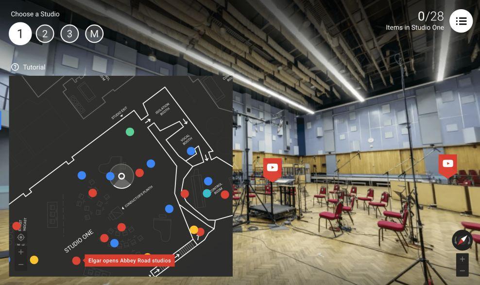Inside Abbey Road Studio Map Website Design