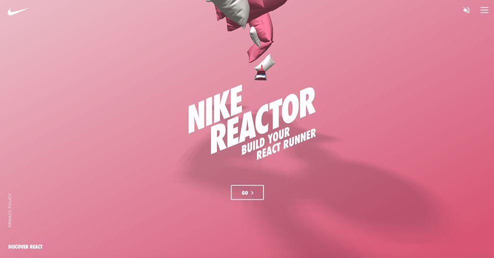Nike React Main Page Website Design