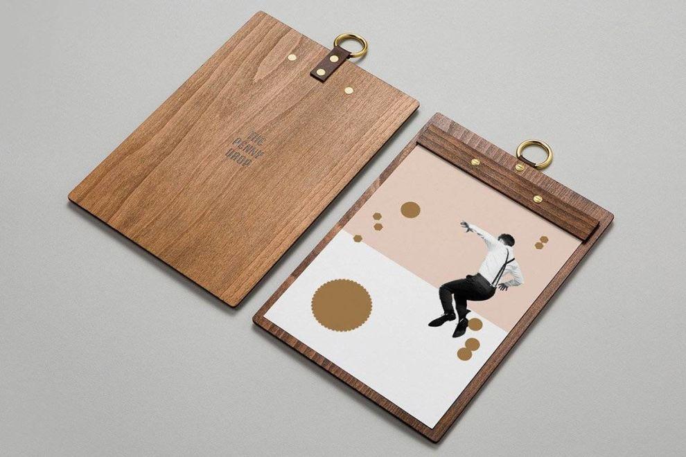 The Penny Drop Menu Print Design