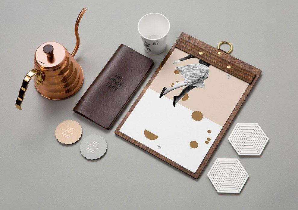 The Penny Drop Print Materials Print Design