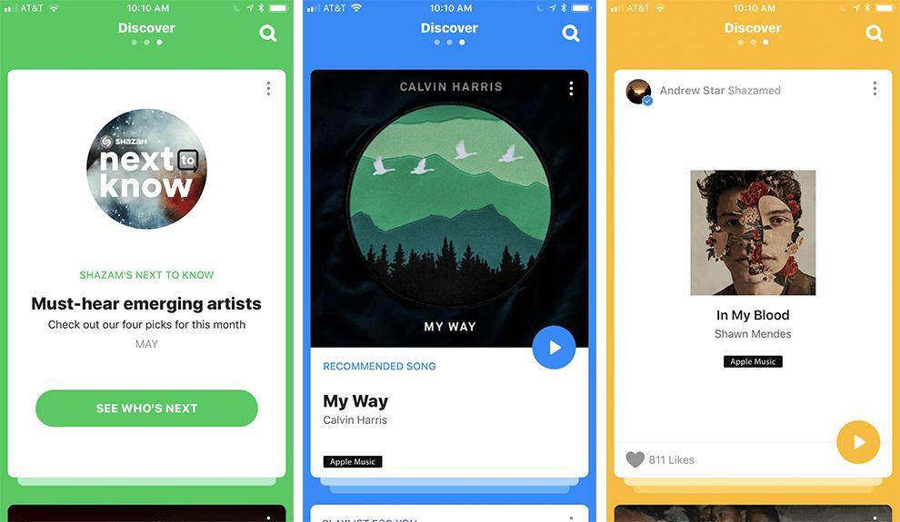 Shazam Song Offerings App Design