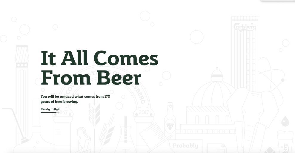 Carlsberg Loading Page Website Design
