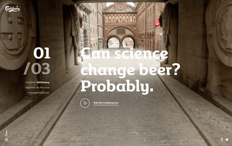 Carlsberg Sliding About Page Website Design