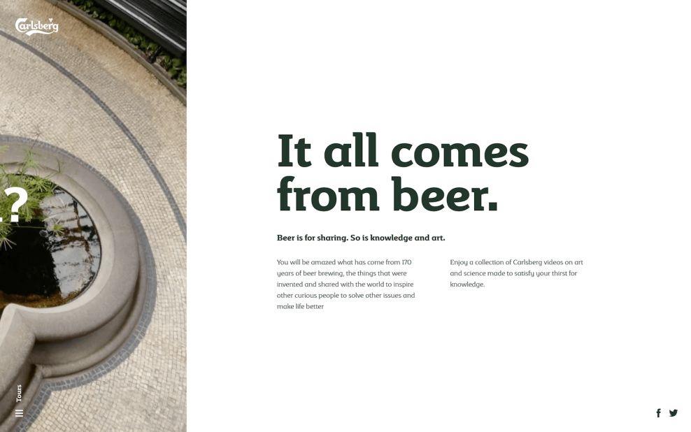 Carlsberg Sliding Product Page Website Design
