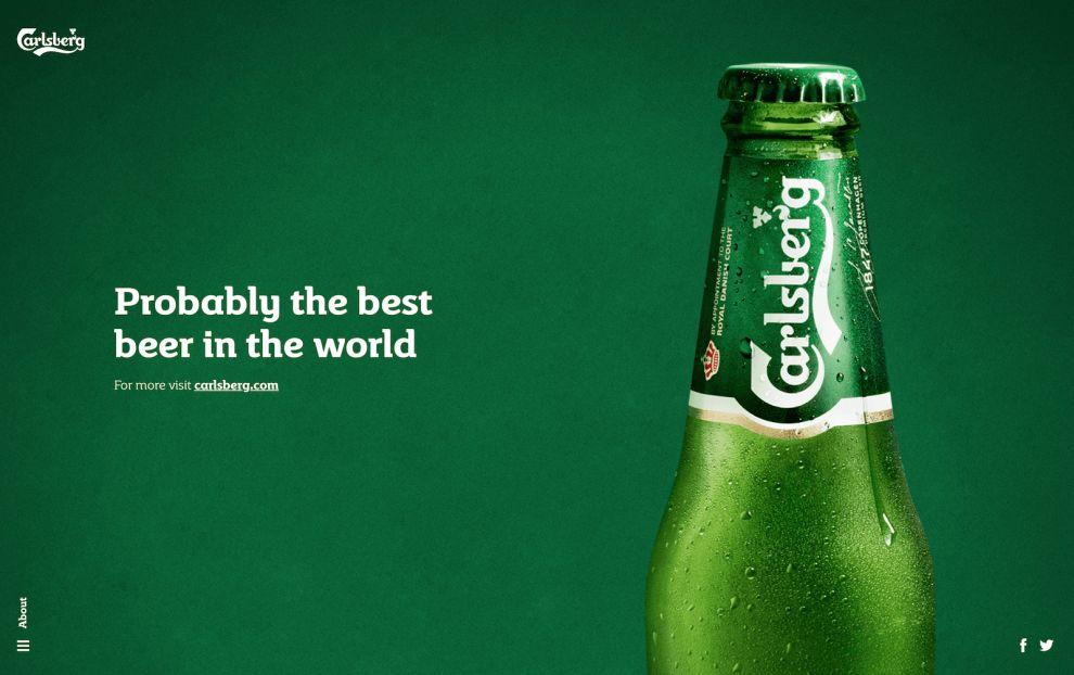 Carlsberg Product Final Page Website Design