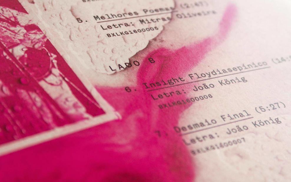 Relicários de São Tolosa Album Cover Closeup Print Design