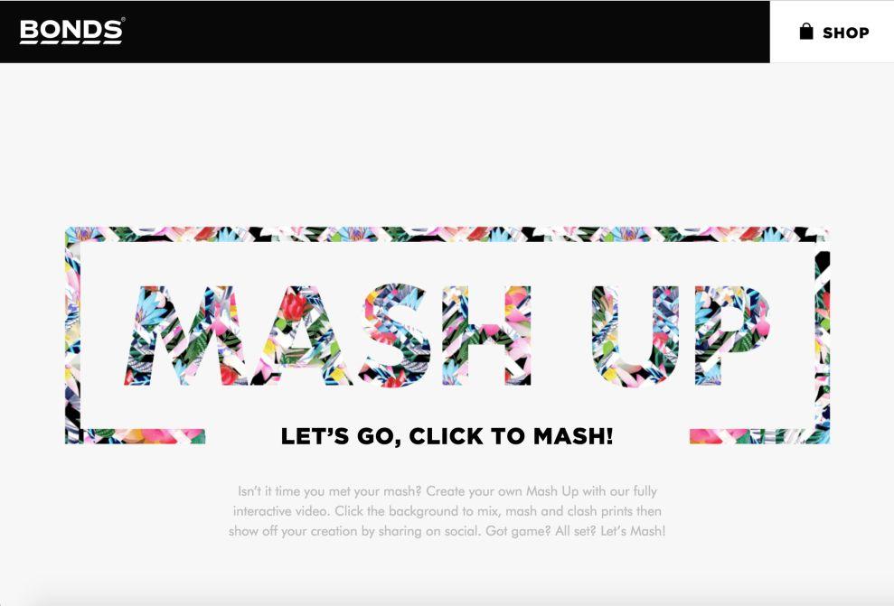 Bonds Mashup Home Page Website Design