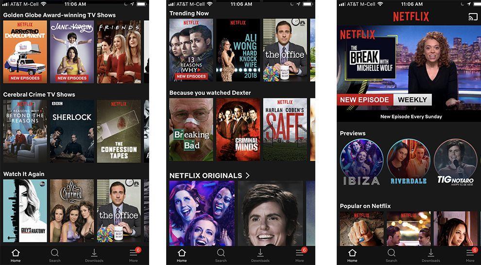Netflix Browse App Design