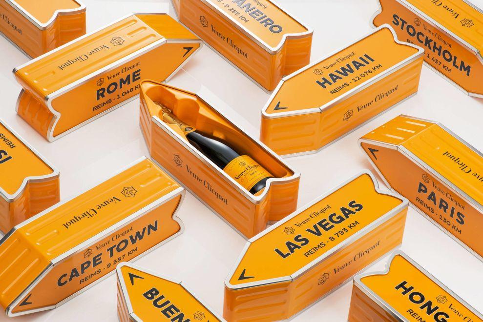 Veuve Clicquot Multiple Open Package Design