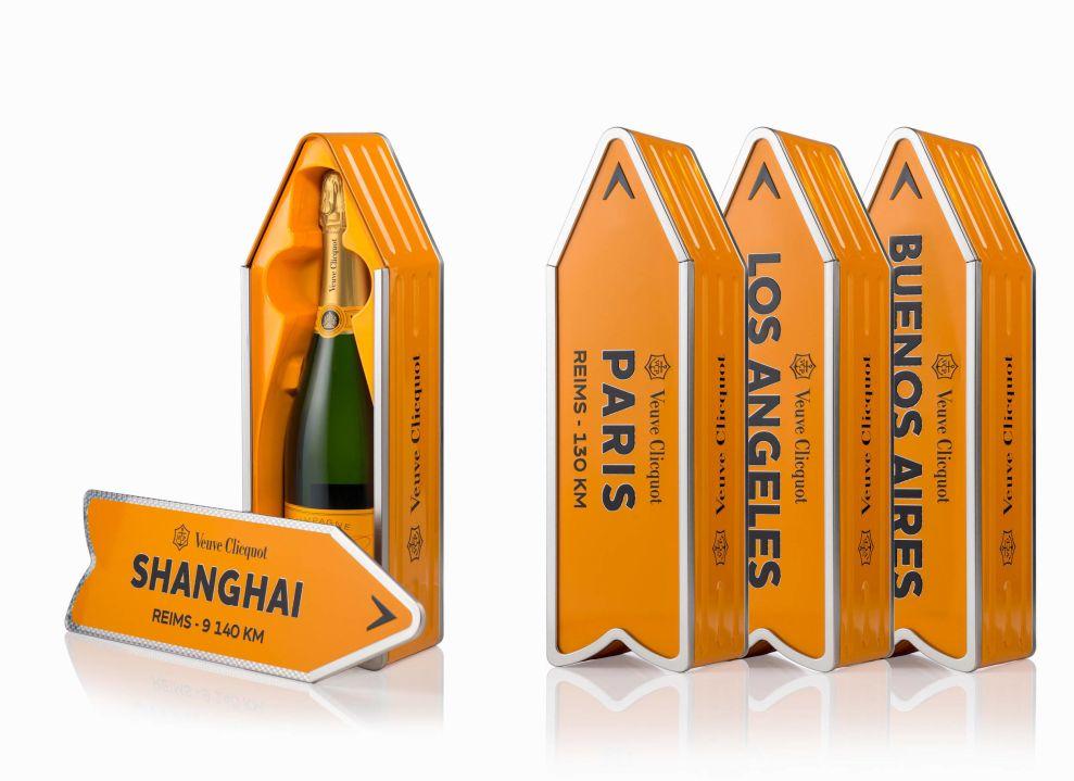 Veuve Clicquot Multiple Standing Package Design