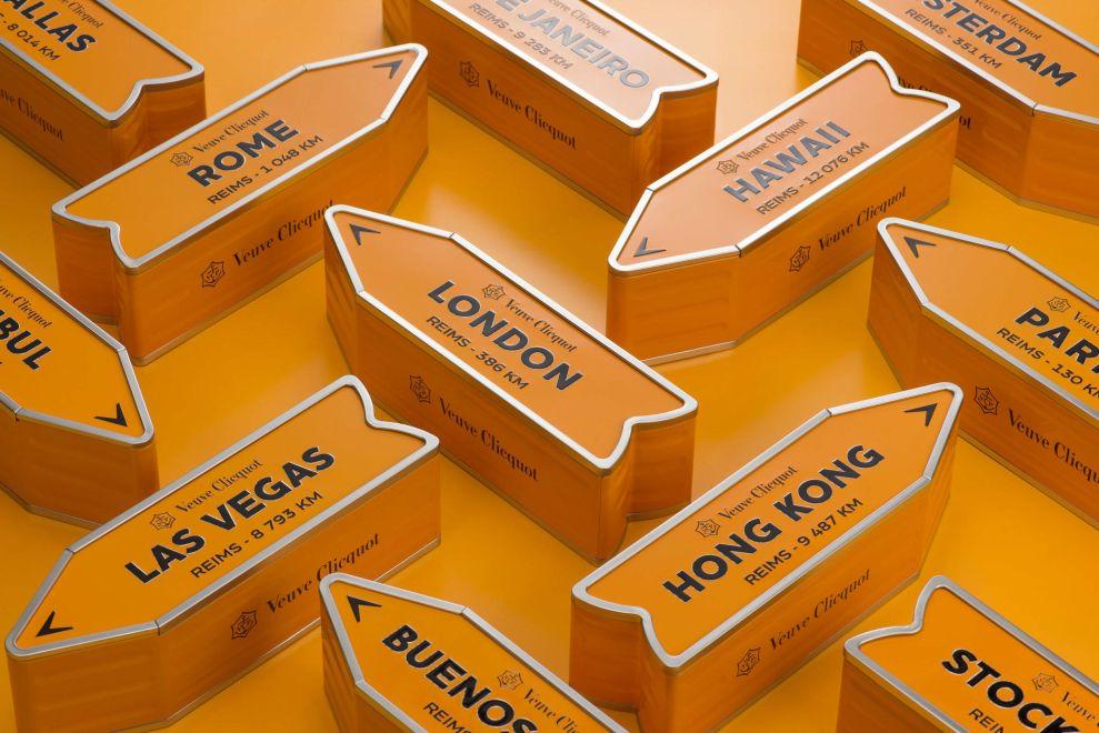 Veuve Clicquot Multiple Closed Package Design