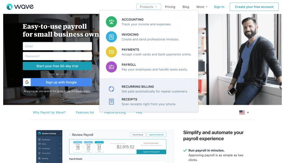 Wave Apps Menu Website Design