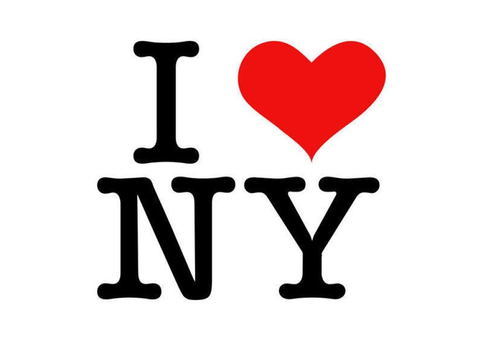 I Love NY Stacked Logo Design