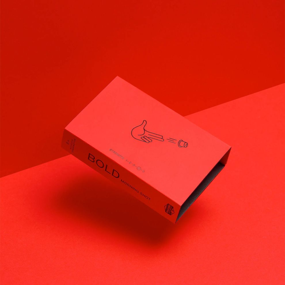 Volcano At Home Red Package Design