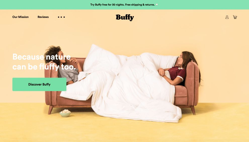 Buffy Home Page Website Design