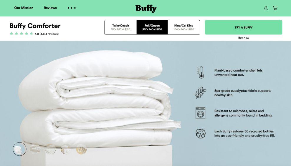 Buffy Product Website Design