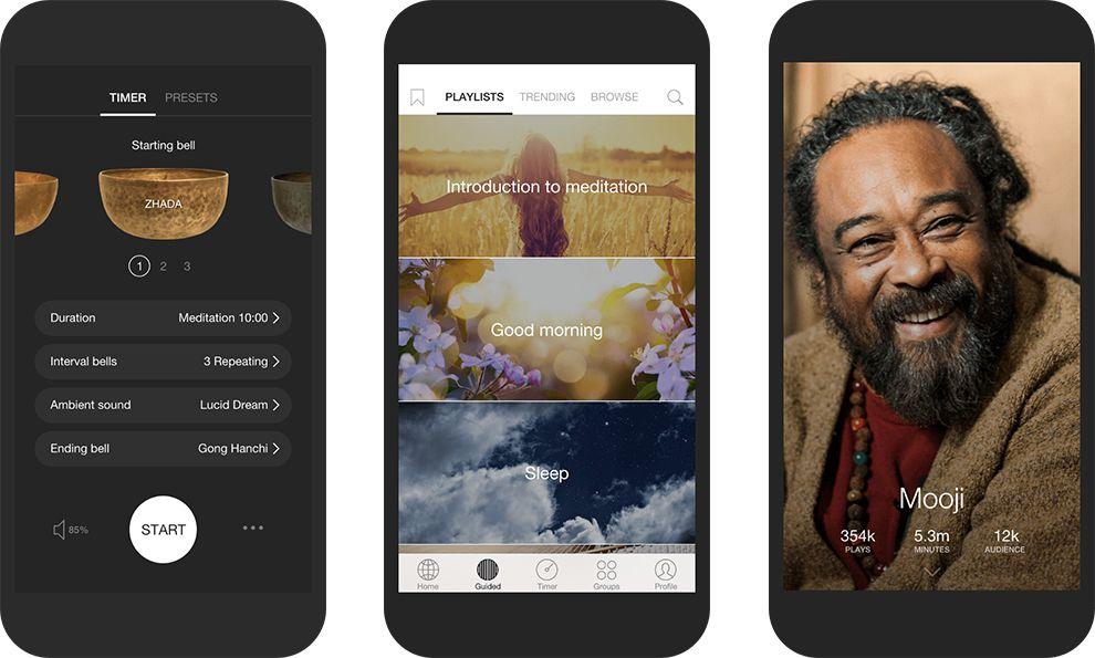 Insight Timer Minimalist App Design