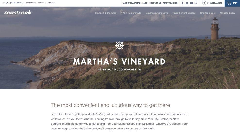 Seastreak Home Page Website Design